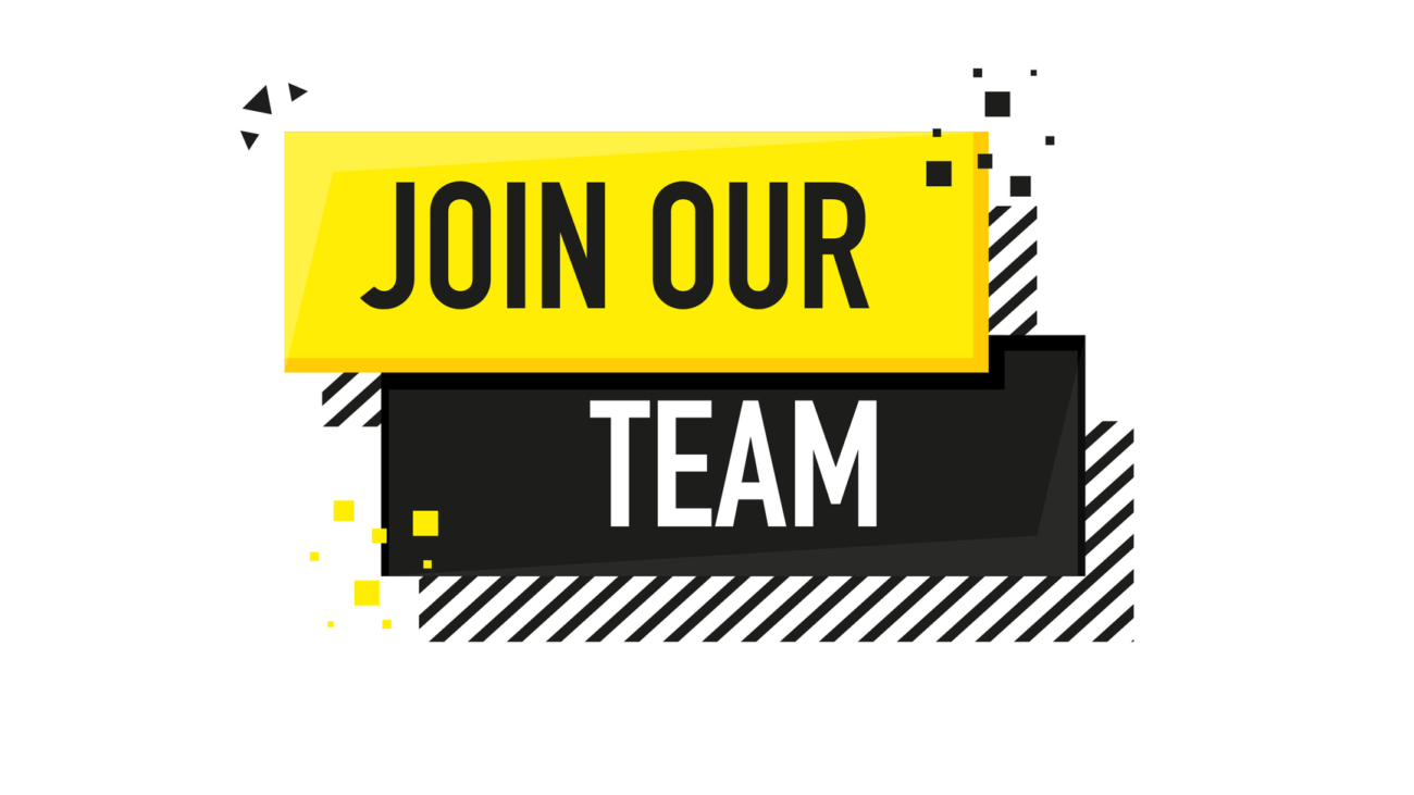 Join our team. Vector flat illustration on white background